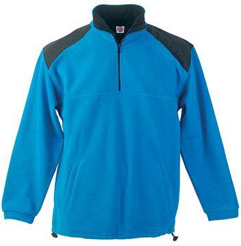 Crown modrá fleecová bunda