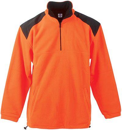Crown oranžová fleecová bunda