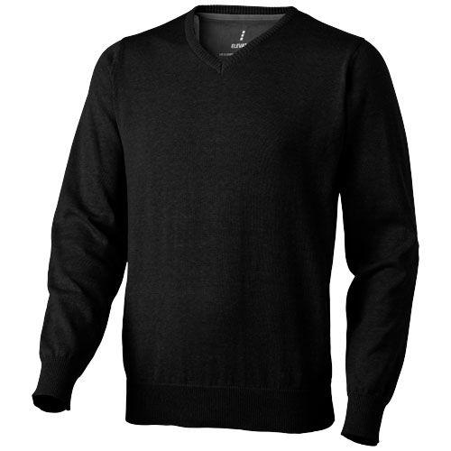 Černý svetr Spruce s véčkovým výstřihem