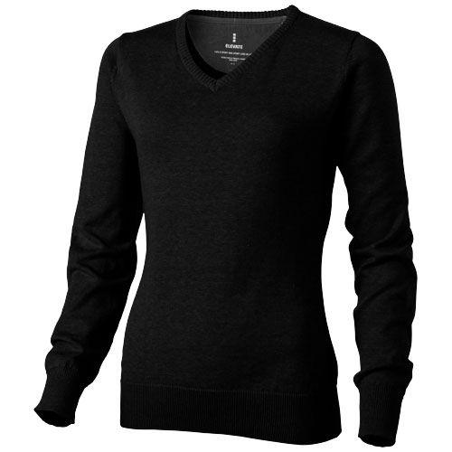 Dámský svetr Spruce s véčkovým výstřihem černý
