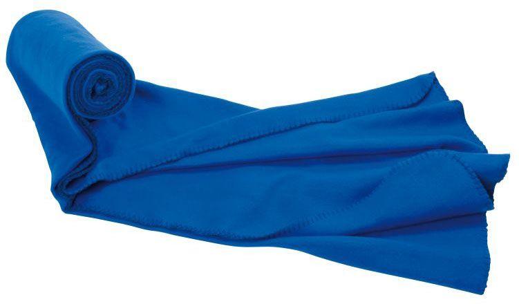 Velká flaušová modrá deka Nashville