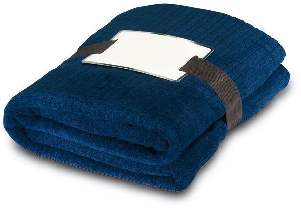 Fleecová deka modrá
