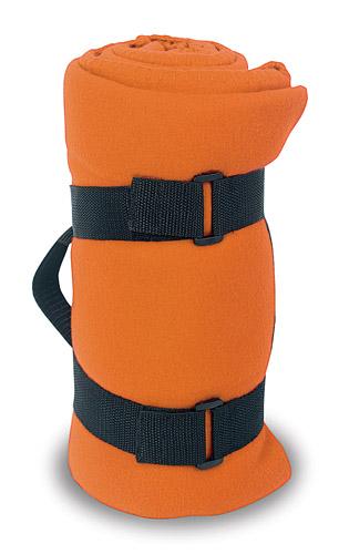 Mountain oranžová zimní deka s potiskem