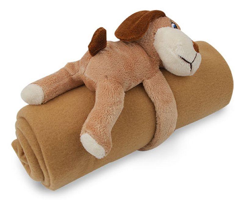 Plyšák pes+deka hnědá