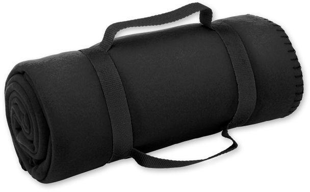 FIT cestovní fleecová deka, 200 g/m2, černá