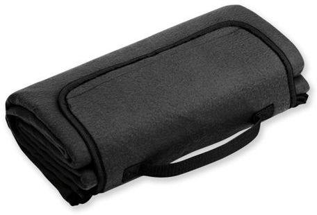 PAT cestovní fleecová deka, spodní strana voděodolná, 160 g/m2, černá