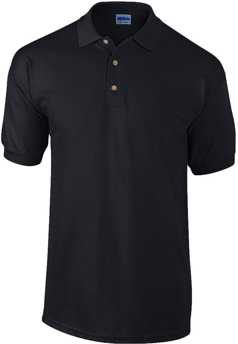 Pique černá polokošile bavlna
