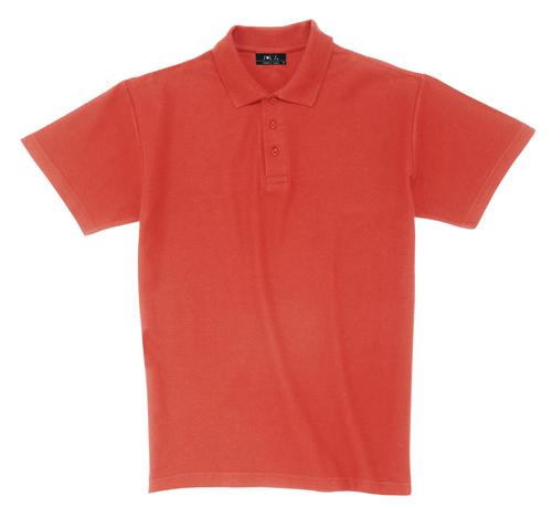 Pique červená polokošile bavlna