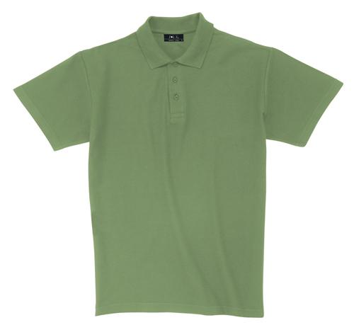 Pique zelená polokošile bavlna