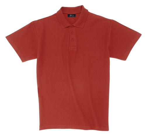 Pique tmavě červená polokošile bavlna