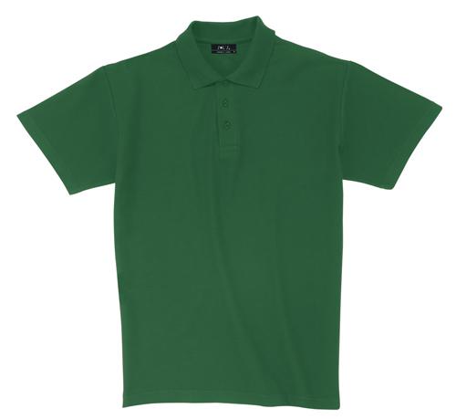 Pique tmavě zelená polokošile bavlna s potiskem