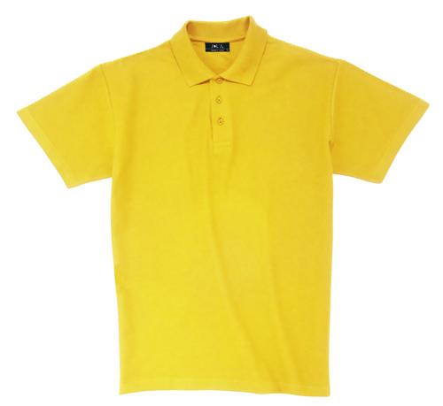 Pique polokošile bavlna matně žlutá