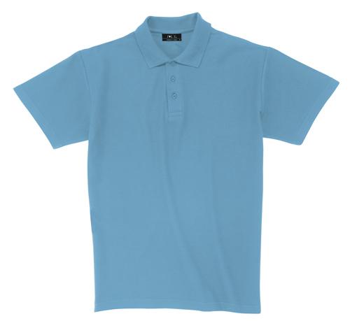 Pique polokošile bavlna nebesky modrá