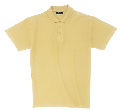Pique polokošile bavlna světle žlutá