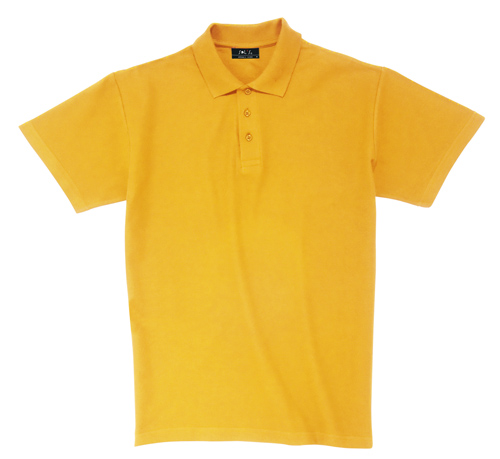 Pique polokošile bavlna světle oranžová