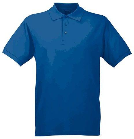 JAMES POLO MEN pánská polokošile, 200 g/m2, JAMES NICHOLSON, modrá