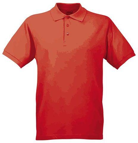 JAMES POLO MEN pánská polokošile, 200 g/m2, JAMES NICHOLSON, červená