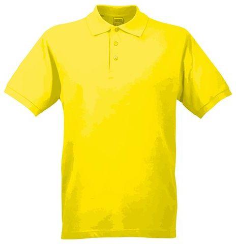 JAMES POLO MEN pánská polokošile, 200 g/m2, JAMES NICHOLSON, žlutá