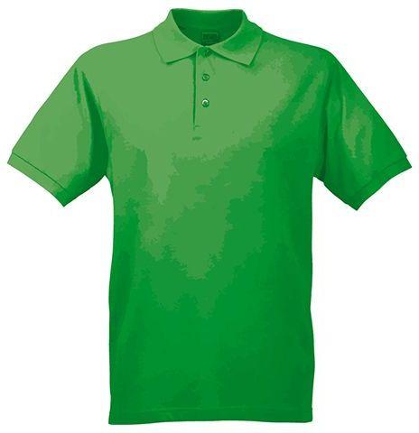 JAMES POLO MEN pánská polokošile, 200 g/m2, JAMES NICHOLSON, zelená