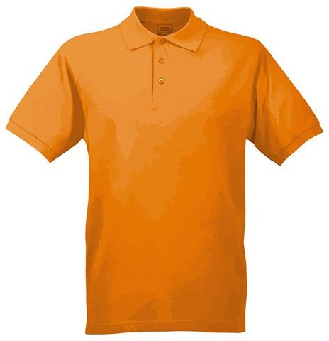 JAMES POLO MEN pánská polokošile, 200 g/m2, JAMES NICHOLSON, oranžová