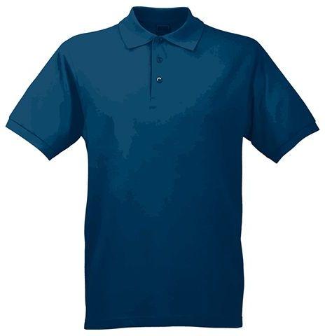 JAMES POLO MEN pánská polokošile, 200 g/m2, JAMES NICHOLSON, tmavě modrá