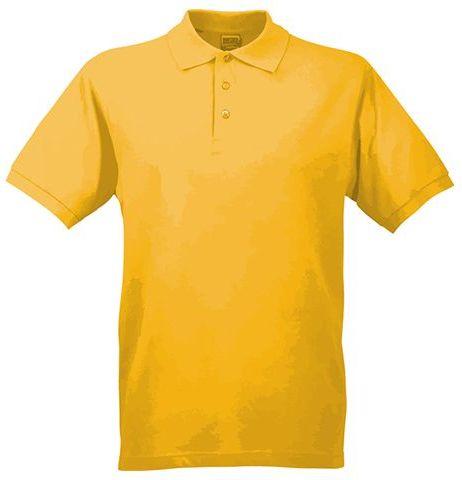 JAMES POLO MEN pánská polokošile, 200 g/m2, JAMES NICHOLSON, tmavě žlutá