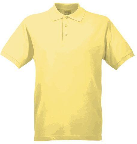 JAMES POLO MEN pánská polokošile, 200 g/m2, JAMES NICHOLSON, světle žlutá