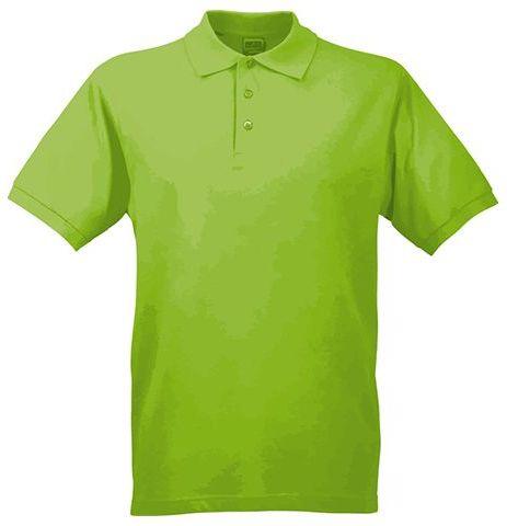 JAMES POLO MEN pánská polokošile, 200 g/m2, JAMES NICHOLSON, světle zelená