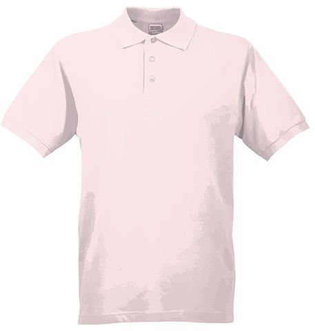 JAMES POLO MEN pánská polokošile, 200 g/m2, JAMES NICHOLSON, světle růžová