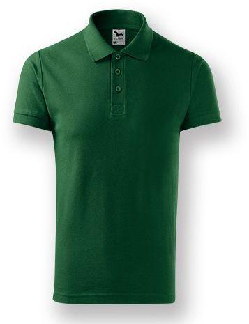 POLITO MEN pánská polokošile, 170 g/m2, ADLER, tmavě zelená s potiskem