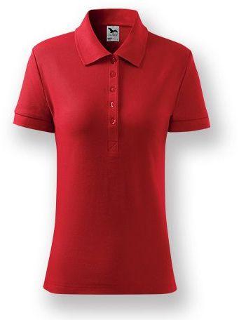 POLITO WOMEN dámská polokošile, 170 g/m2, ADLER, červená s potiskem