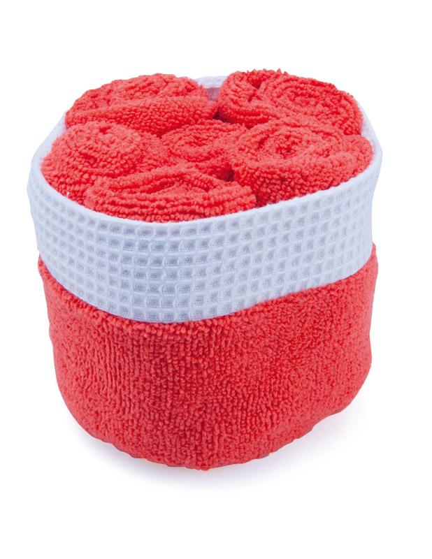 Sada ručníků červená