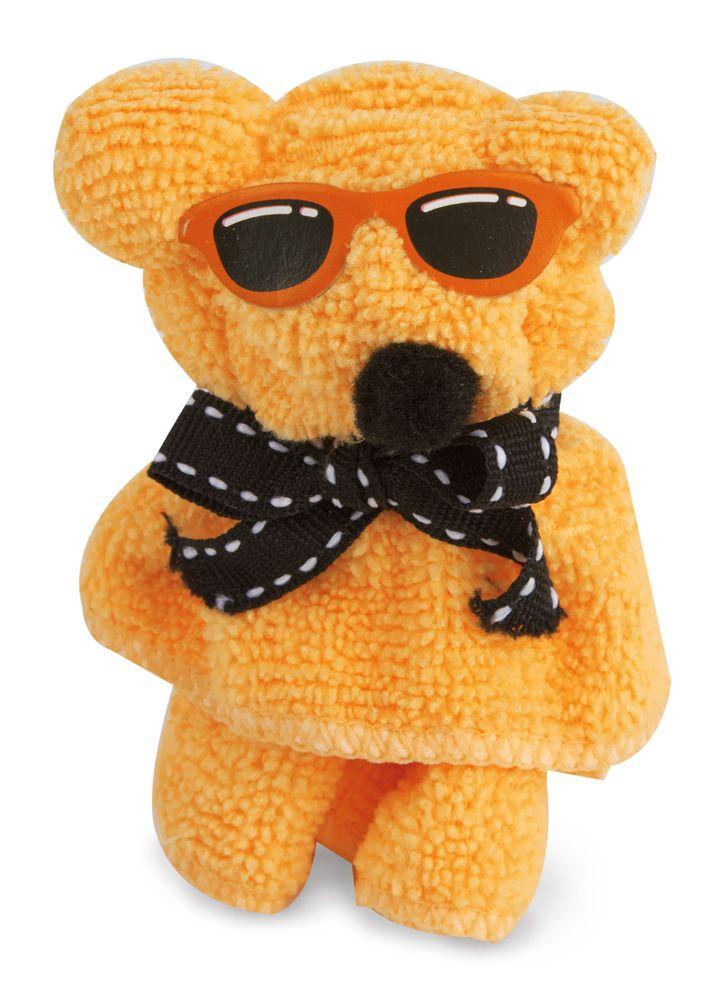 Ručník složený do tvaru medvídka oranžový