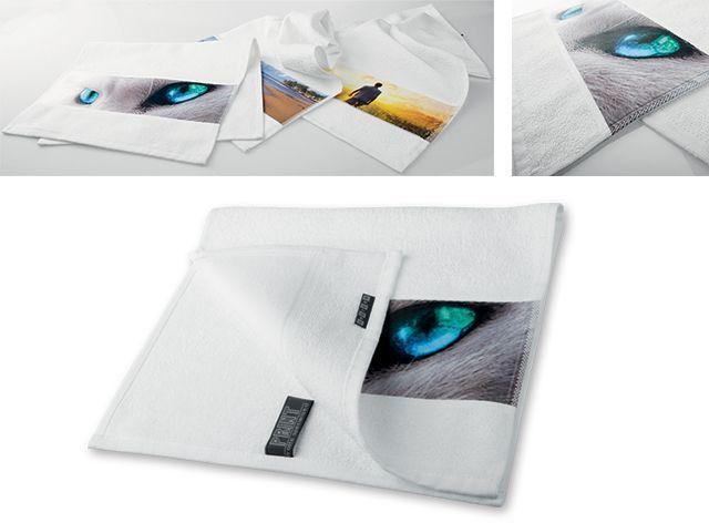 PRINTER malý ručník, 400 g/m2, bílá
