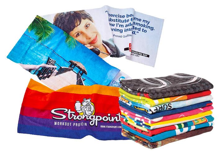 Rychleschnoucí ručník s plnobarevným tiskem