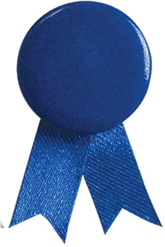 Modrý odznak solidarity s připínáčkem