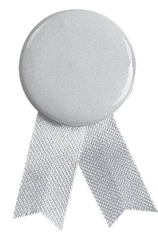 Bílý odznak solidarity s připínáčkem