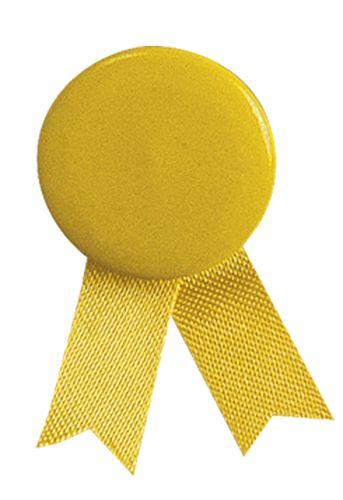 Žlutý odznak solidarity s připínáčkem