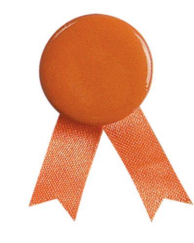 Oranžový odznak solidarity s připínáčkem