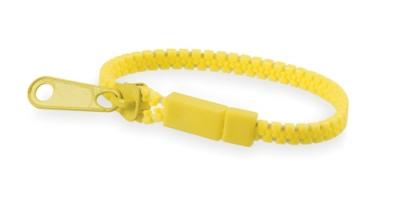 Náramek na zip žlutý
