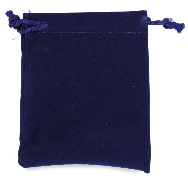 Sametový váček modrý s potiskem