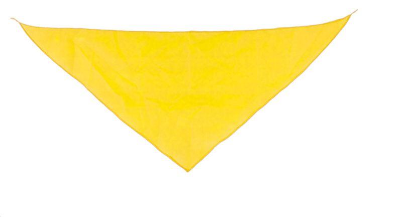 Šátek žlutý s potiskem