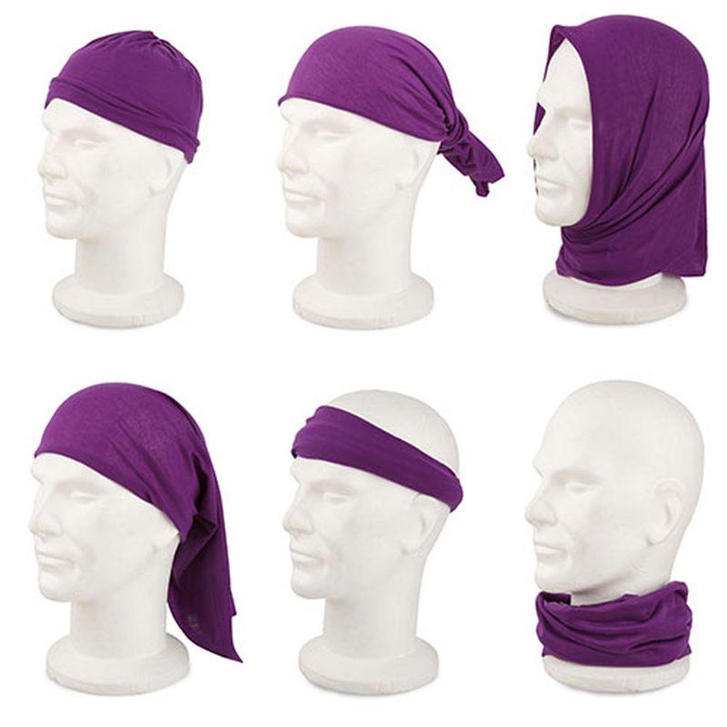 Multifunkční šátek fialový
