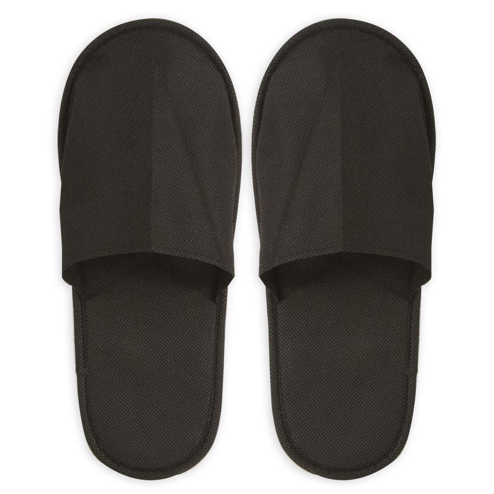 Pantofle z netkané látky černé