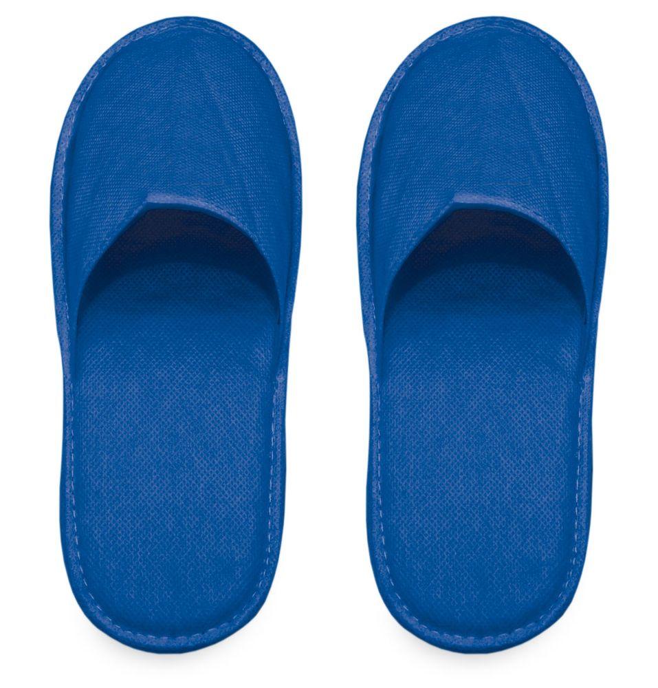 Pantofle z netkané látky modré
