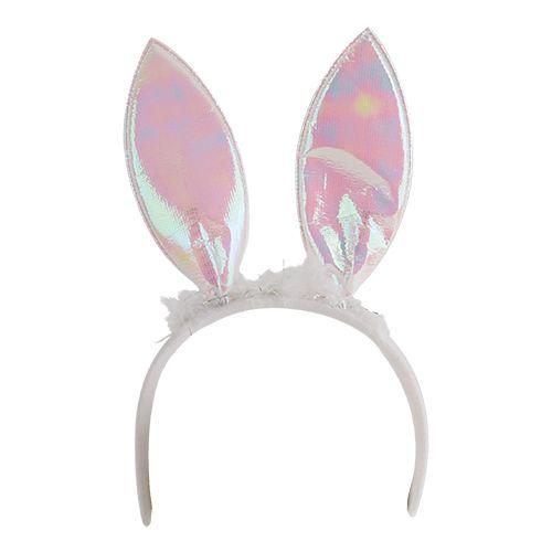 Čelenka s králičíma ušima bílá