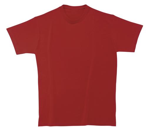 Bavlněné tričko 185 g tmavě červené