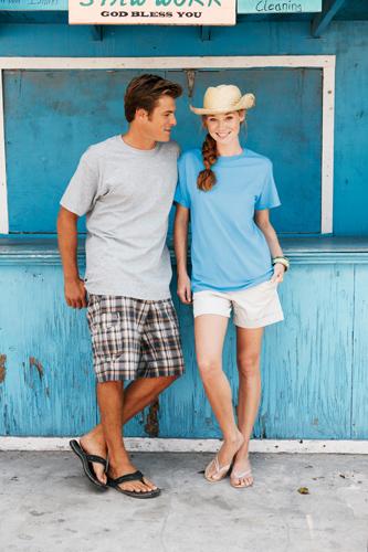 Bavlněné tričko 185 g nebesky modré