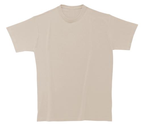 Bavlněné tričko 185 g světle béžové