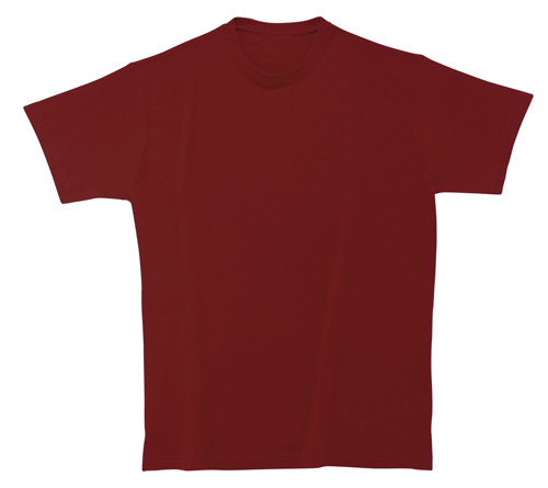 Bavlněné dětské tričko 185 g vínové
